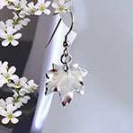 maple leaf earrings in silver