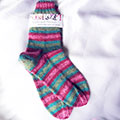 multi coloured striped socks