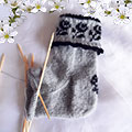 part knitted rose sock